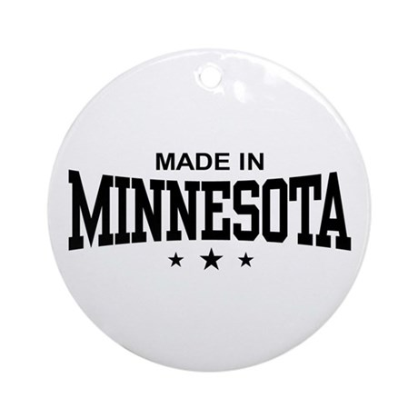 Made in Minnesota Ornament (Round)