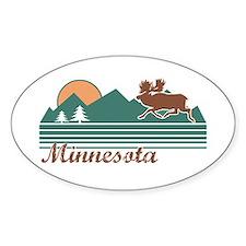 Minnesota Moose Oval Decal