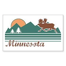 Minnesota Moose Rectangle Decal