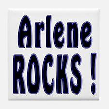 Arlene Rocks ! Tile Coaster