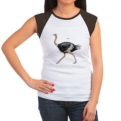 Ostrich Bird (Front) Women's Cap Sleeve T-Shirt