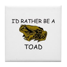 I'd Rather Be A Toad Tile Coaster