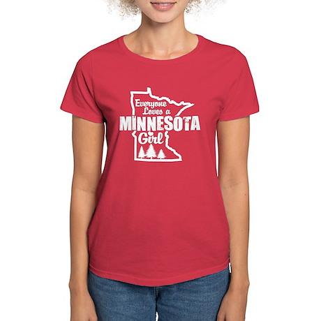 Minnesota Girl Women's Dark T-Shirt