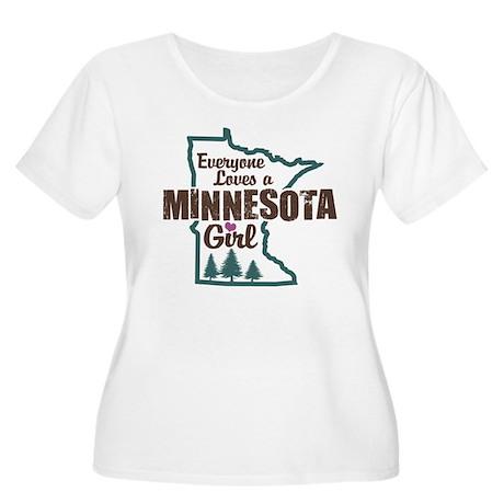 Minnesota Girl Women's Plus Size Scoop Neck T-Shir