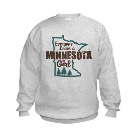 Minnesota Girl Kids Sweatshirt