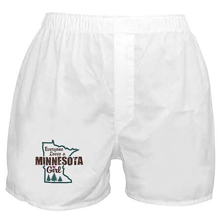 Minnesota Girl Boxer Shorts