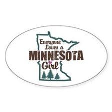Minnesota Girl Oval Decal