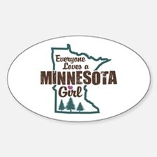 Minnesota Girl Oval Decal