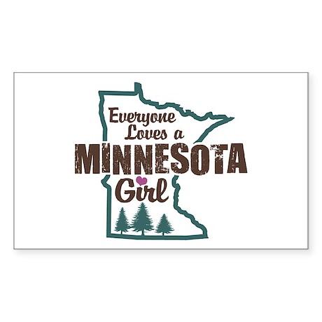 Minnesota Girl Rectangle Sticker