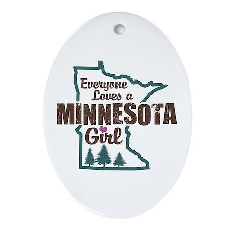 Minnesota Girl Oval Ornament