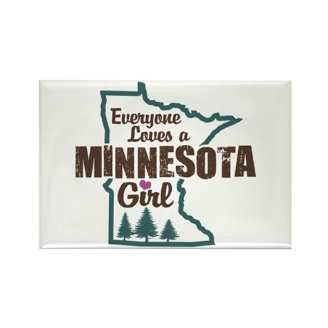 Minnesota Girl Rectangle Magnet