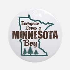 Minnesota Boy Ornament (Round)