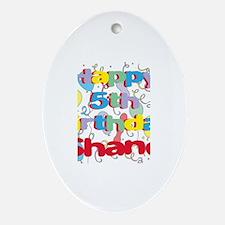 Shane's 5th Birthday Oval Ornament