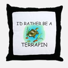 I'd Rather Be A Terrapin Throw Pillow