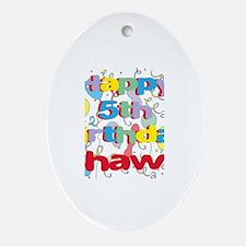 Shawn's 5th Birthday Oval Ornament