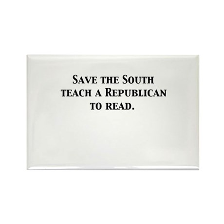 Save the South Rectangle Magnet