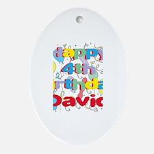 David's 4th Birthday Oval Ornament