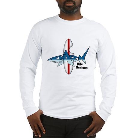 Shark Bite Designs Long Sleeve T-Shirt