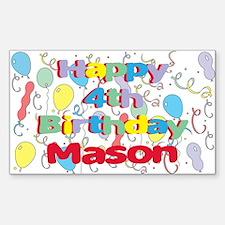 Mason's 4th Birthday Rectangle Decal