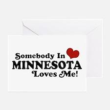 Somebody in Minnesota Loves Me Greeting Cards (Pk