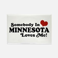 Somebody in Minnesota Loves Me Rectangle Magnet