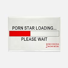 PORN STAR LOADING... Rectangle Magnet