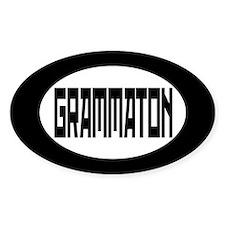 Grammaton Bumper Decals Oval Decal