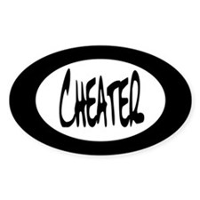 Cheater Oval Decal