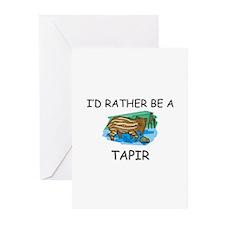 I'd Rather Be A Tapir Greeting Cards (Pk of 10)