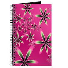 """Flowers On Pink"" Fractal Art Journal"