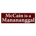 McCain is a Manananggal bumper sticker