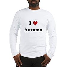 I love Autumn Long Sleeve T-Shirt