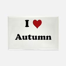 I love Autumn Rectangle Magnet