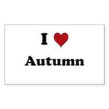 I love Autumn Rectangle Decal