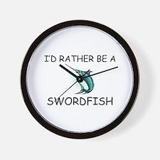 I'd Rather Be A Swordfish Wall Clock