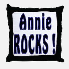 Annie Rocks ! Throw Pillow