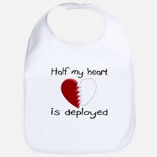 Half My Heart Is Deployed Bib