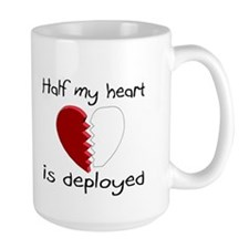Half My Heart Is Deployed Mug