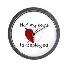 Half My Heart Is Deployed Wall Clock
