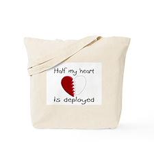 Half My Heart Is Deployed Tote Bag