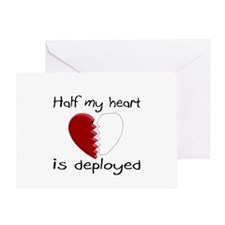 Half My Heart Is Deployed Greeting Card