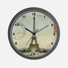 Vintage Paris Eiffel Tower Wall Clock