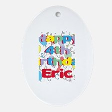 Eric's 4th Birthday Oval Ornament