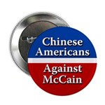 Chinese Americans Against McCain button