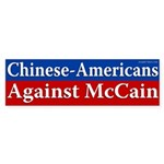 Chinese-Americans Against McCain bumpersticker