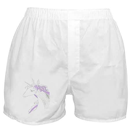 anime unicorn art Boxer Shorts