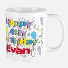 Evan's 4th Birthday Mug