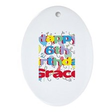 Grace's 6th Birthday Oval Ornament