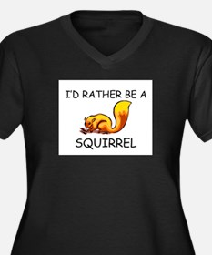 I'd Rather Be A Squirrel Women's Plus Size V-Neck