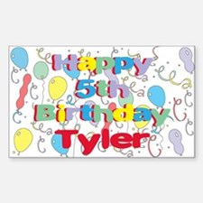 Tyler's 5th Birthday Rectangle Decal